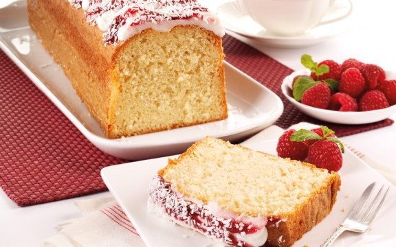 36009 coconut  raspberry loaf cake
